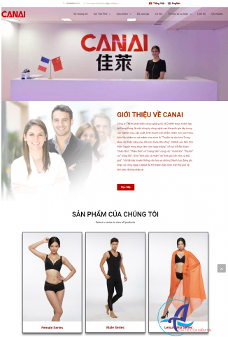 Thiết kế website Canai Việt Nam